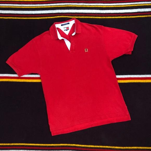 092e1705 Tommy Hilfiger Shirts   90s Classic Stripe Accent Polo Sz L   Poshmark